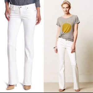 AG Angelina Petite Boot Cut Jeans White